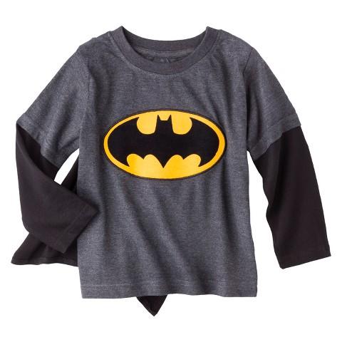 Batman Infant Toddler Boys' Long-Sleeve Cape Tee