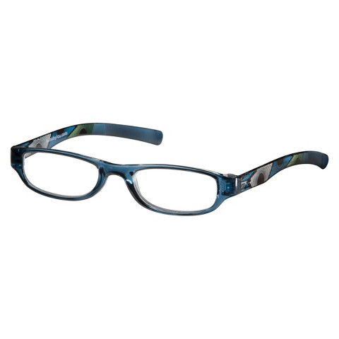 Wink Readers Oval - Peacock Feather Blue