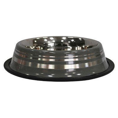 Stainless Steel Striped Pet Bowl - Boots & Barkley™