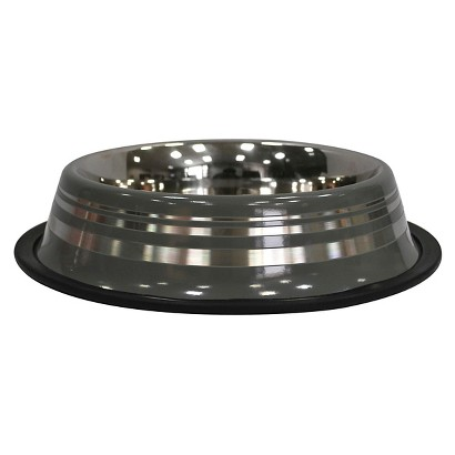 Boots & Barkley® Metal Striped Dog Bowl Large - Colors May Vary