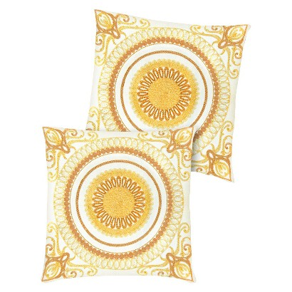 """2-Pack Geovany Embroidered Toss Pillows (18x18"""")"""