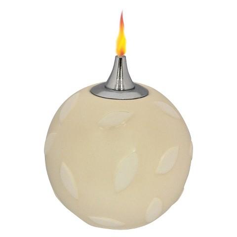 4 Pk Lamplight Ivory Petals Oil Candle
