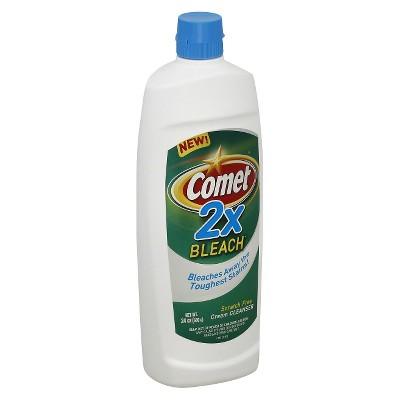 Comet2x Bleach Scratch Free Cream Cleanser 24 oz