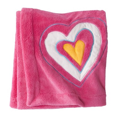 ZUTANOBLUE Hearts Embroidered Boa Blanket