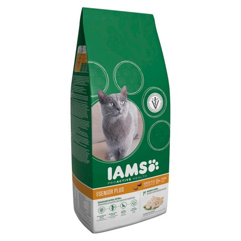 Iams ProActive Health Senior Plus Dry Cat Food 5 lbs