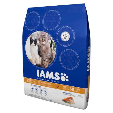 Iams ProActive Health Multi-Cat With Chicken & Salmon Dry Cat Food 9.2 lbs