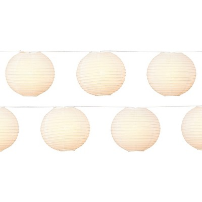 "10Lt 8"" Paper Lanterns-White  - Room Essentials™"