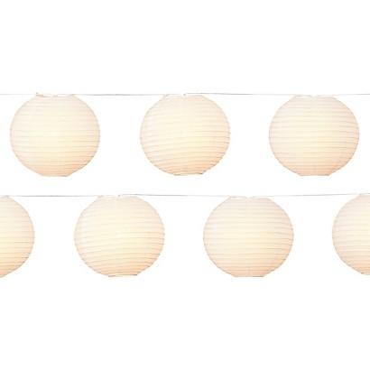 """Room Essentials® 8"""" White Paper Lantern String Light (10ct)"""