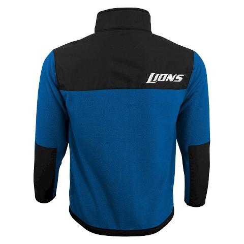 Detroit Lions Zip Long Sleeve Fleece Shirt