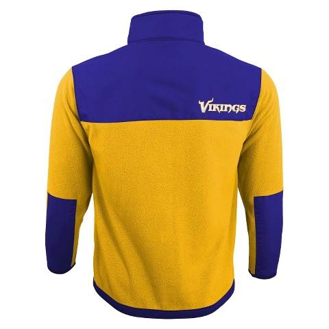 Minnesota Vikings Zip Fleece Shirt