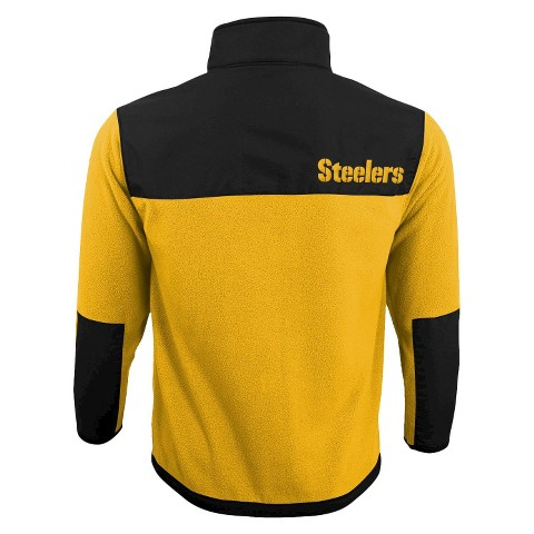 Pittsburgh Steelers Zip Long Sleeve Fleece Shirt Steelers