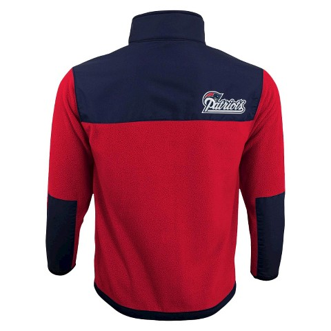 New England Patriots Zip Fleece Shirt