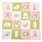 Tadpoles 16-Piece Playmat Set - Teddy and Friends in Pink