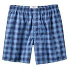 Merona® Men's Plaid Boxers - Blue