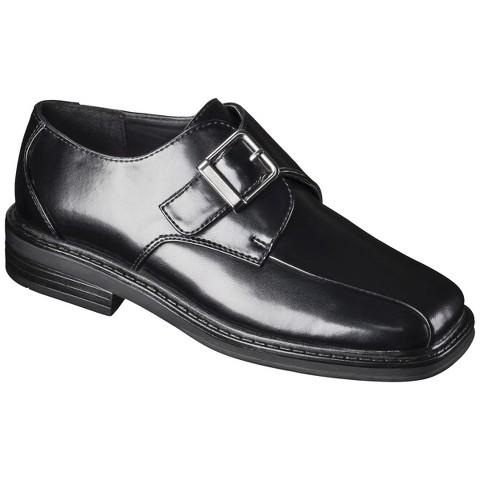 Boy's Scott David® Uniform Monk Dress Shoes - Black