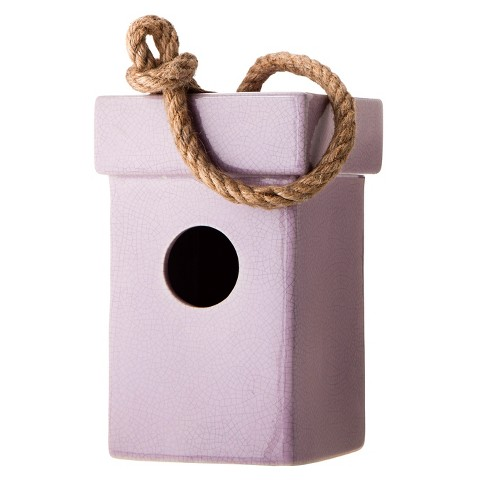 Smith & Hawken™ Ceramic Bird House - Lavender