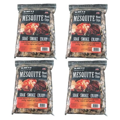 Mr. Bar-B-Q - Mesquite Wood Chips - 4 Bag Super Pack