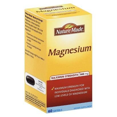 Nature Made Maximum Strength Magnesium 500 mg Softgels - 60 Count