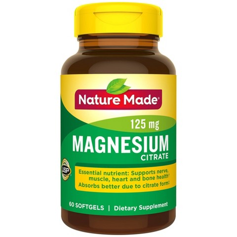 Nature Made Magnesium Citrate Softgels - 60 Count