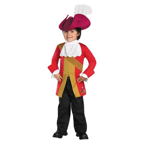 Toddler/Boy's Jake And The Neverland Pirates Captain Hook Costume