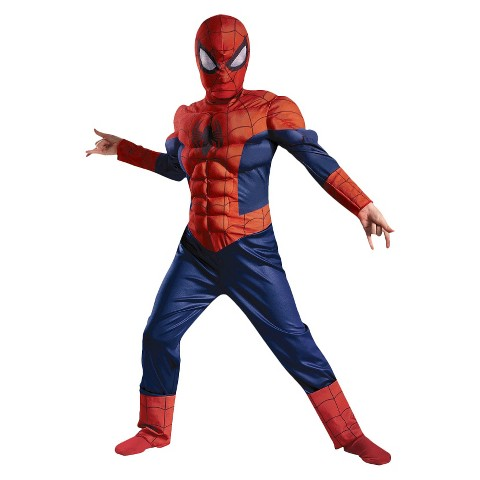 Boy's Ultimate Spider-Man Muscle Light Up Costume
