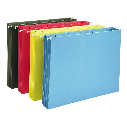 """Smead 4-Count Hanging File  - Assorted Colors (8.5""""X11"""")"""