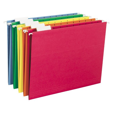 """Smead 25-Count Hanging File  - Assorted Colors (8.5""""X11"""")"""