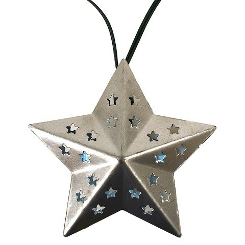 Solar Metal String Lights : Solar Metal Star String Lights (20ct) - Threshold : Target