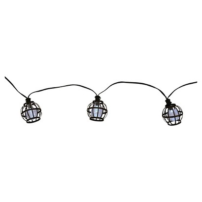 Solar Metal String Lights : Threshold Solar Metal Globe String Lights (20ct) : Target