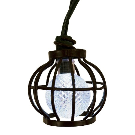 Solar Metal String Lights : Solar Metal Globe String Lights (20ct) - Threshold : Target