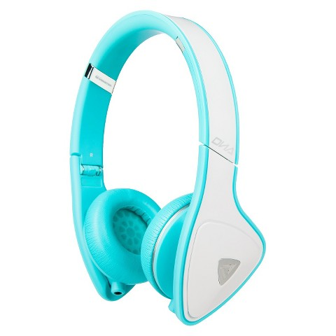 Monster DNA On-Ear Headphones - White/Teal (MHDNAONWHTCAWW)