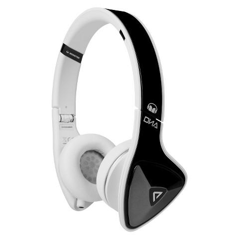 Monster DNA On-Ear Headphones - Black/White (MHDNAONBKWCAWW)