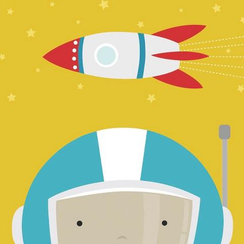 Art.com - Peek-A-Boo Astronaut