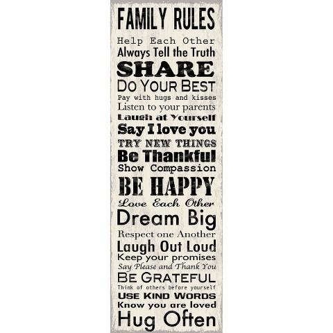 Art.com - Family Rules Panel