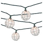 Threshold™ 10ct Decorative String Lights, Metal Wire Round Cover with Plastic Beads