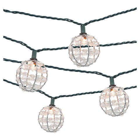 Metal Patio String Lights : 10ct Decorative String Lights-Metal Wire Round C... : Target