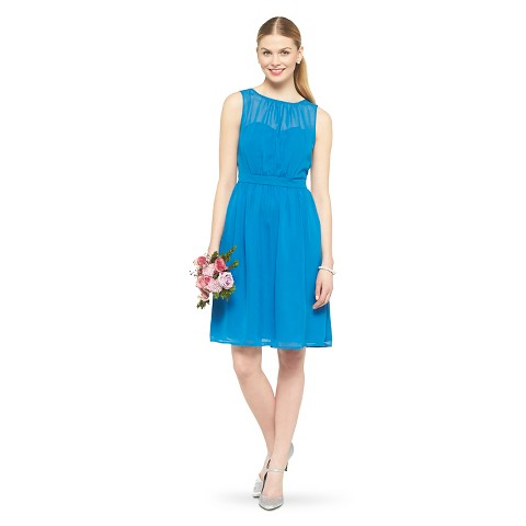 Women's Chiffon Illusion Sleeveless Bridesmaid Dress(Limited Availability) - TEVOLIO