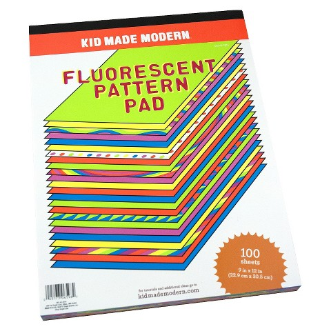 Kid Made Modern 100 ct Fluorescent Pattern Pad