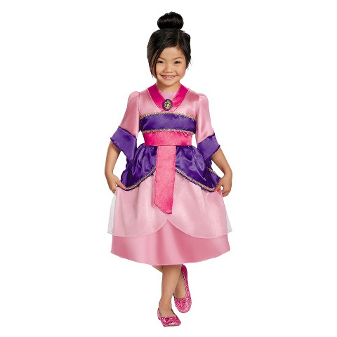 Toddler/Girl's Disney Princess Mulan Sparkle Costume