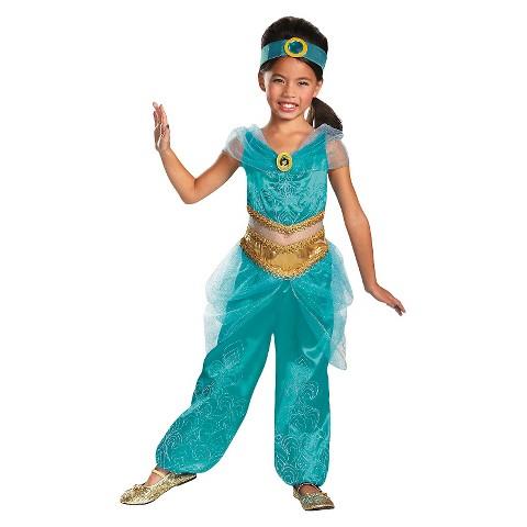 Toddler/Girl's Disney Princess Jasmine Sparkle Deluxe Costume