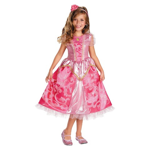 Toddler/Girl's Disney Princess Aurora Sparkle Deluxe Costume