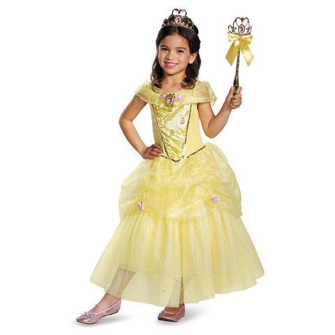 Toddler/Girl's Disney Princess Belle Sparkle Deluxe Costume
