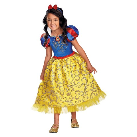 Toddler/Girl's Disney Princess Snow White Sparkle Deluxe Costume