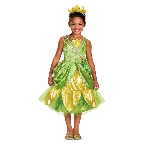 Toddler/Girl's Disney Princess Tiana Sparkle Deluxe Costume