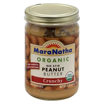 MaraNatha Organic No Stir Crunchy Peanut Butter 16 oz