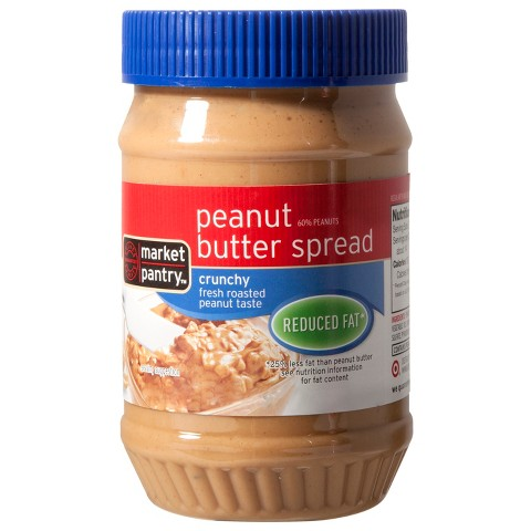 Market Pantry Reduced Fat Crunchy Peanut Butter Spread 18 oz