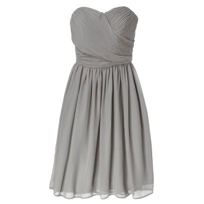 TEVOLIO™  Women's Chiffon Strapless Pleated Dress - Neutral Colors