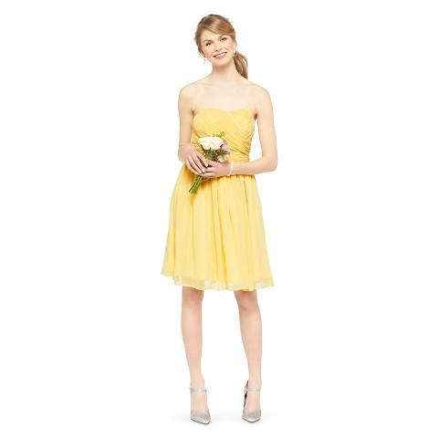 Women's Chiffon Strapless Bridesmaid Bridesmaid Dress Fashion Colors - TEVOLIO™