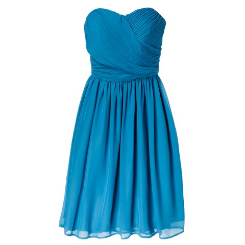 Women's Chiffon Strapless Bridesmaid Dress (Limited Availability) - TEVOLIO
