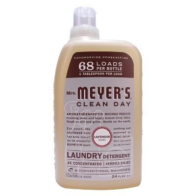 Mrs. Meyer's Laundry Detergent 4X Lavender - 34 oz